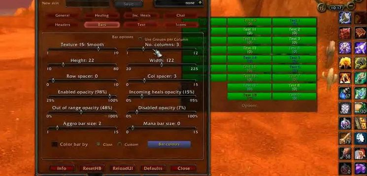 Аддон HealBot Continued для World Of Warcraft